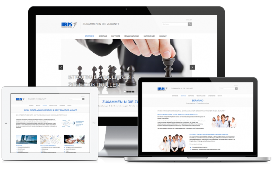 Responsive Webdesign & Website-Erstellung Contao: IRM Management Network GmbH
