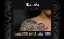 Webdesign Moroko Tattoo: Homepage