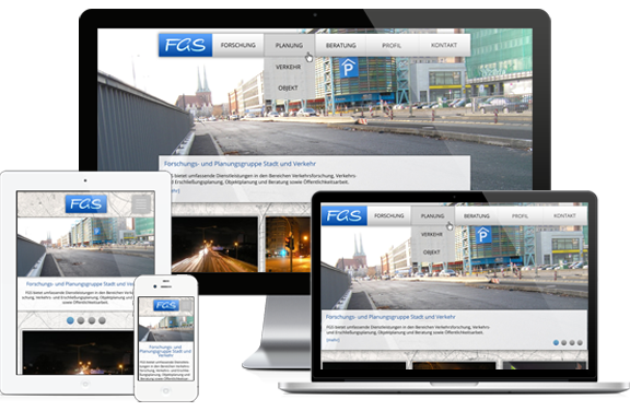 Webdesign & CMS Website-Erstellung: FGS Berlin