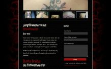 Webdesign Tattooschwester: Inhalt & Kontaktformular