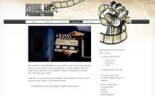 Webdesign Rise Up Productions: Inhaltsseite