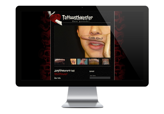 Webdesign & Homepage-Erstellung Tattooschwester
